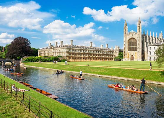 Kings College Cambridge Punting Rivers