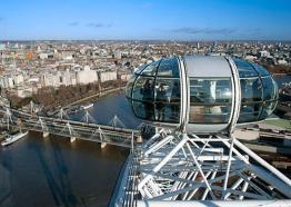 London Eye pod close up